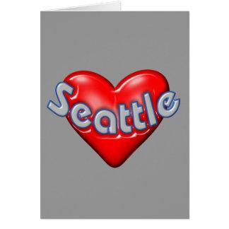 I Love Seattle Card