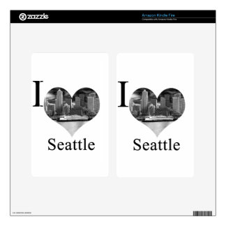 I Love Seattle Decal For Kindle Fire