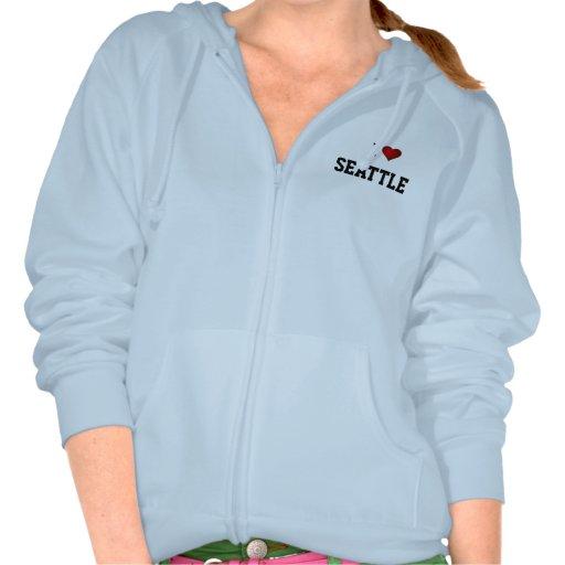 I LOVE SEATTLE hoofir T Shirts