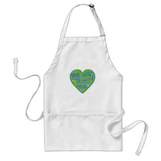 I Love Seattle in Seattle Colors Aprons