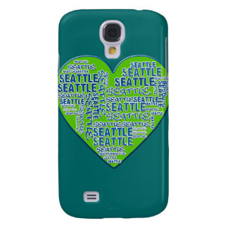 I Love Seattle in Seattle Colors Galaxy S4 Case