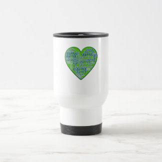 I Love Seattle in Seattle Colors Travel Mug