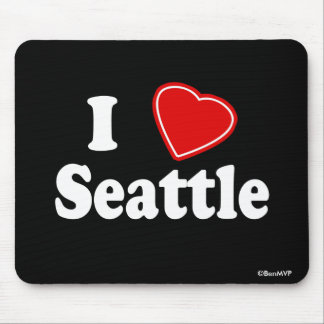 I Love Seattle Mouse Pad