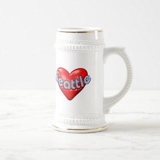 I Love Seattle Coffee Mugs