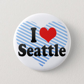 I Love Seattle Pinback Button