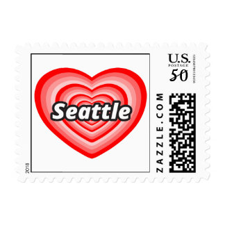 I love Seattle Postage