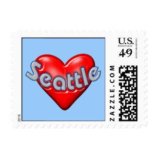 I Love Seattle Postage Stamp