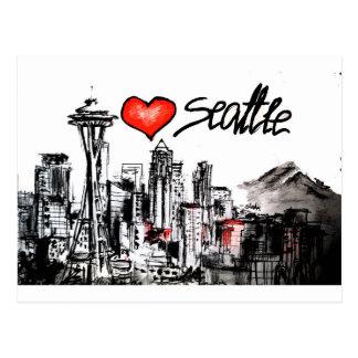 I love Seattle Postcard