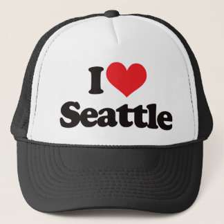 I Love Seattle Trucker Hat