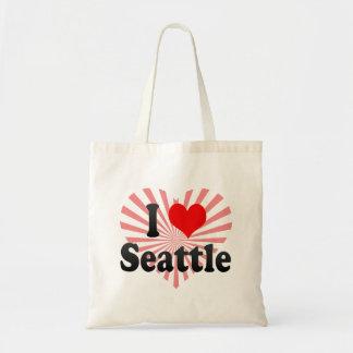 I Love Seattle, United States Canvas Bag