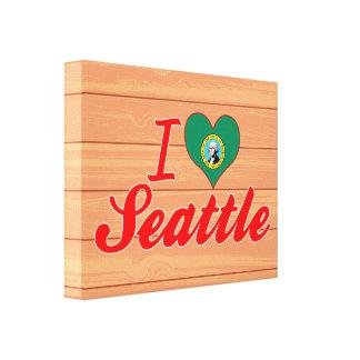 I Love Seattle, Washington Gallery Wrapped Canvas