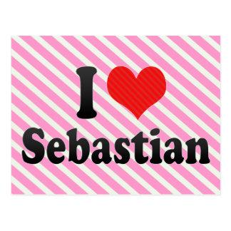 I Love Sebastian Postcard