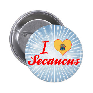 I Love Secaucus New Jersey Pin