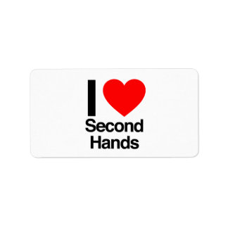 i love second hands personalized address label