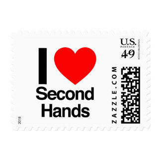 i love second hands stamp