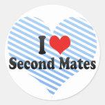 I Love Second Mates Stickers