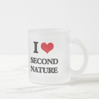 I Love Second Nature 10 Oz Frosted Glass Coffee Mug