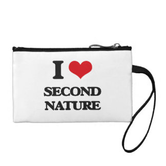 I Love Second Nature Coin Purses