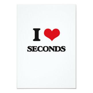 "I Love Seconds 3.5"" X 5"" Invitation Card"