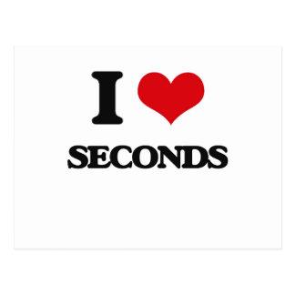 I Love Seconds Postcard