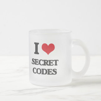 I love Secret Codes 10 Oz Frosted Glass Coffee Mug