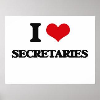 I Love Secretaries Poster