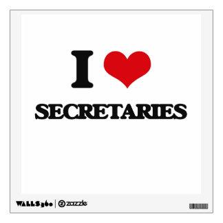 I Love Secretaries Wall Stickers