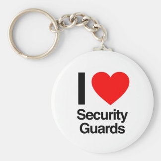i love security guards keychains