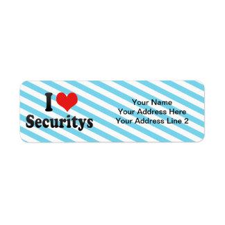 I Love Securitys Return Address Label