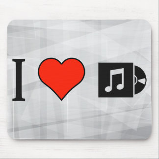 I Love Seeing Long Play Record Cover Mouse Pad