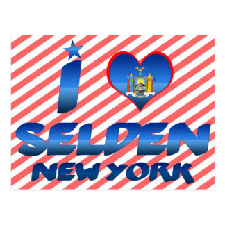 I love Selden, New York Postcard