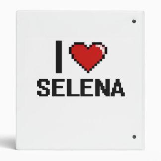 I Love Selena Digital Retro Design Vinyl Binder