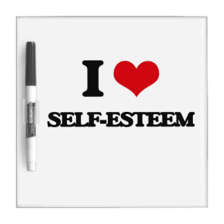 I Love Self-Esteem Dry-Erase Board
