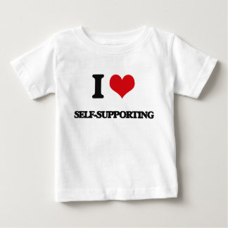 I Love Self-Supporting T-shirts