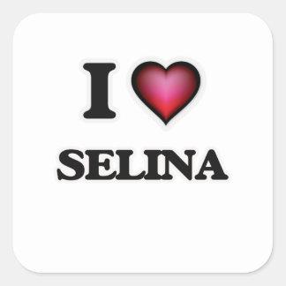I Love Selina Square Sticker