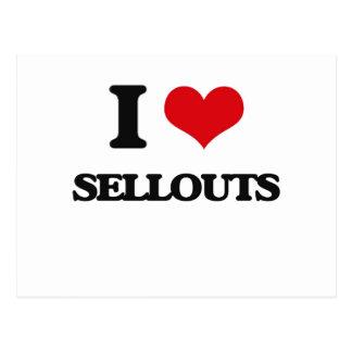 I Love Sellouts Postcard