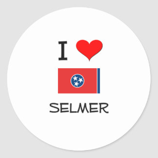 I Love Selmer Tennessee Classic Round Sticker