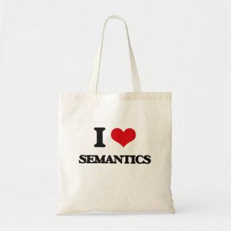 I Love Semantics Budget Tote Bag