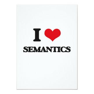 I Love Semantics 5x7 Paper Invitation Card