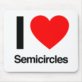 i love semicircles mouse pad