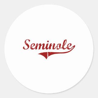 I Love Seminole Oklahoma Round Stickers