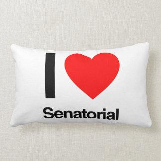 i love senatorial throw pillow