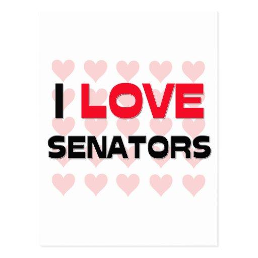 I LOVE SENATORS POST CARD