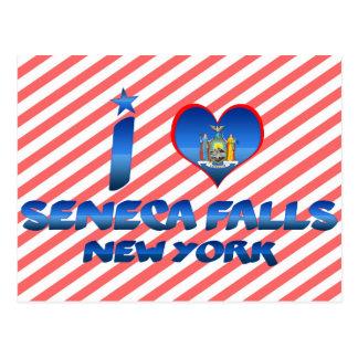 I love Seneca Falls, New York Postcard