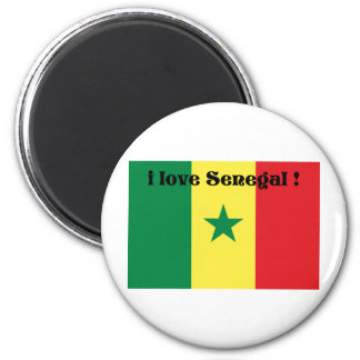 i love Senegal 2 from 933958store Refrigerator Magnets
