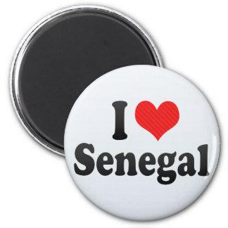 I Love Senegal 2 Inch Round Magnet