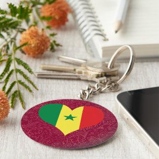 I Love Senegal Basic Round Button Keychain