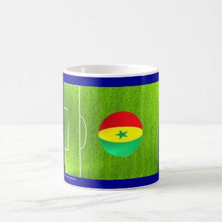 I Love Senegal football soccer flag mug