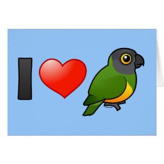 I Love Senegal Parrots Greeting Cards