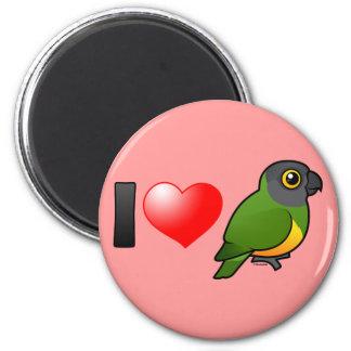 I Love Senegal Parrots 2 Inch Round Magnet